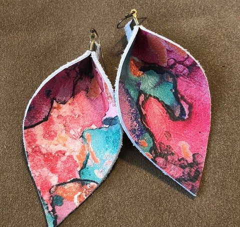 Lava Leather Earrings
