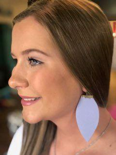 Lilac Flat Leather Earrings