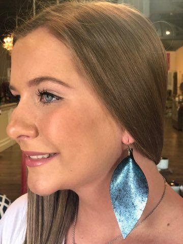 Shimmer Wide Pinched Earrings