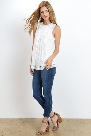 The Savannah Lace Top