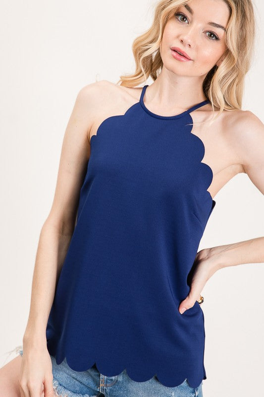 Share Your Love Top in Navy