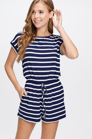 Basic Striped Romper in 2 Colors