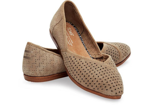 Taupe Perf Flat