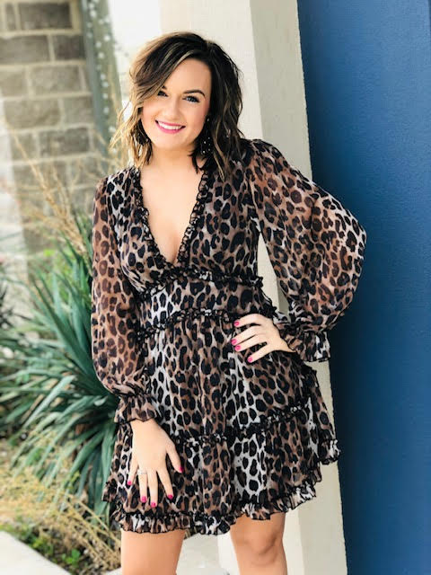 The Holiday Leopard Dress