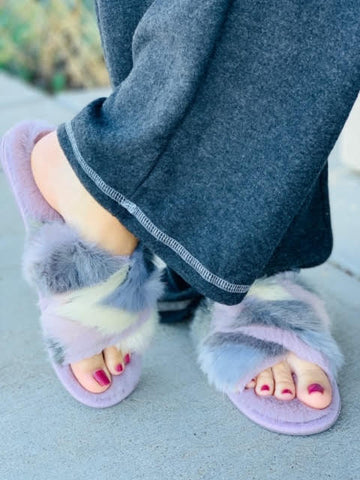 The Blyss Lilac Slippers