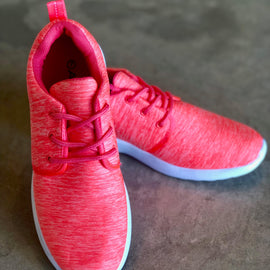 The Sienna Sneaker in Coral