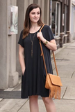 Side Pocket Tunic Dress