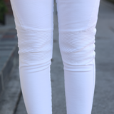 White Biker Denim