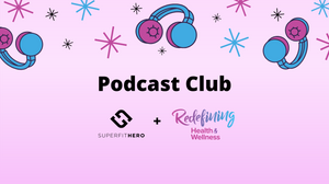 Superfit Hero logo and Podcast Club
