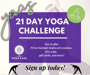 Superfit Hero Sponsored Event, 21 day yoga challenge at Yoga Casa