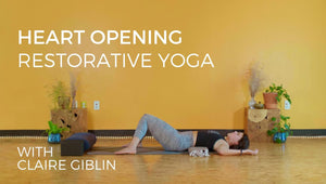 heart opening restorative yoga with Sangha Studio
