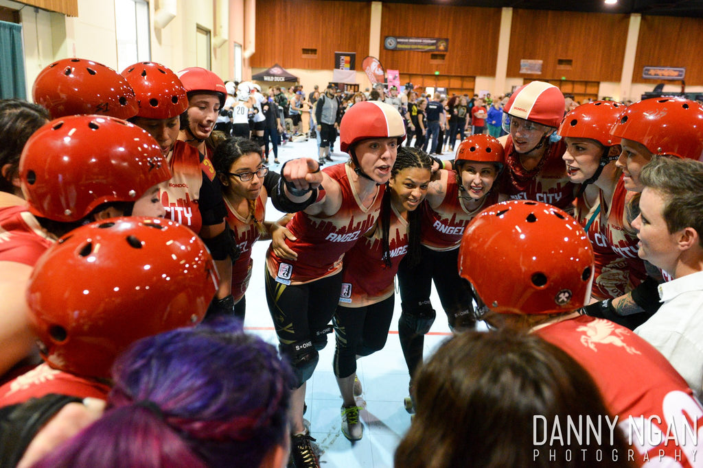 Angel City Derby Girls team photo
