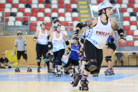 Superfit Hero Sponsored Team, Philly Roller Derby and the Liberty Belle's