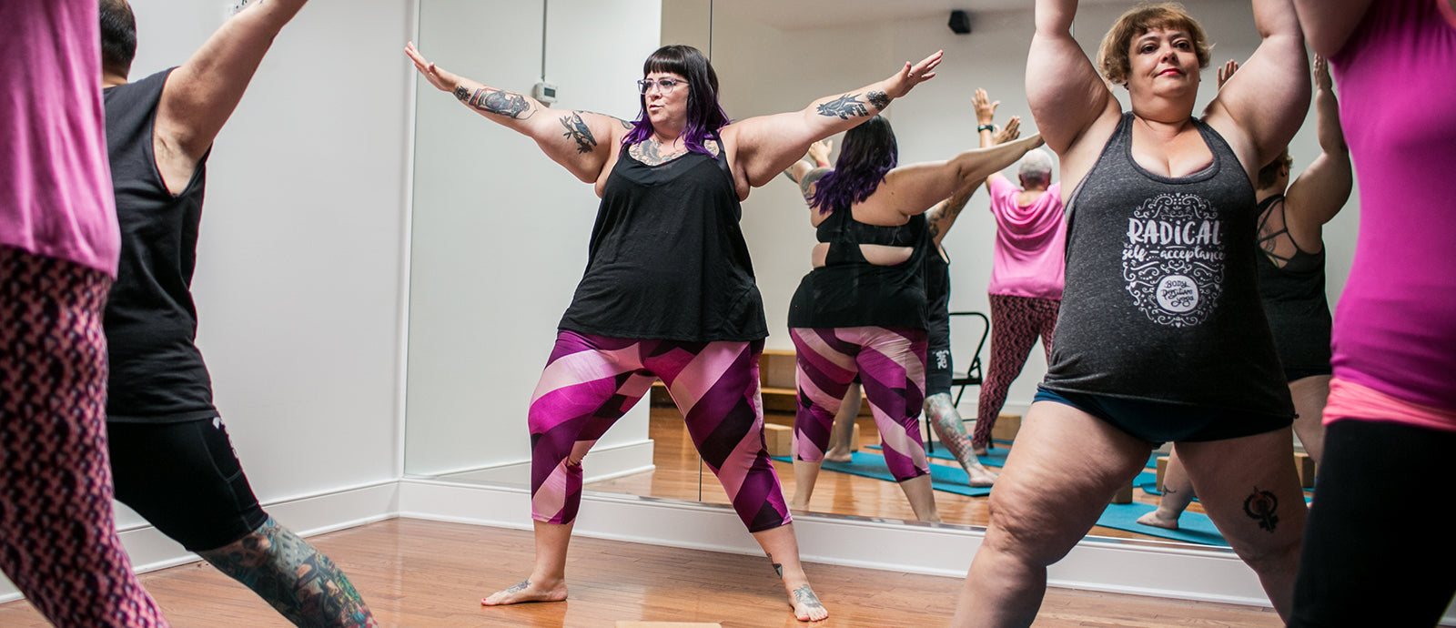 Amber Karnes, Body Positive Yoga, teaching class