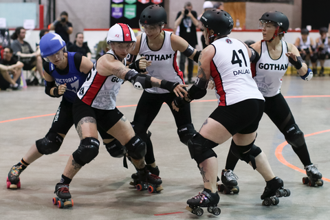 Superfit Hero Sponsored Team Gotham Girls Roller Derby All-Stars from New York