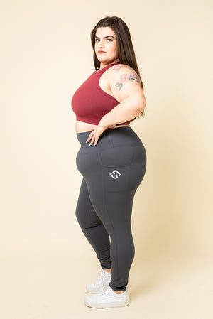 SUPERHOLD Pocket Leggings - Metal