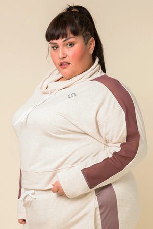 Superfit Crop Pullover - Heather Sand