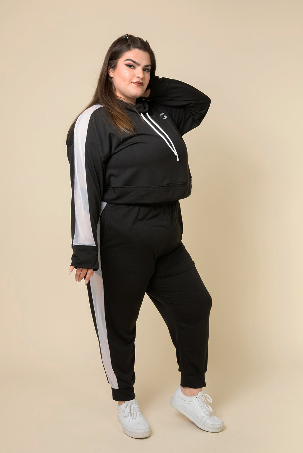 Superfit Crop Pullover - Black