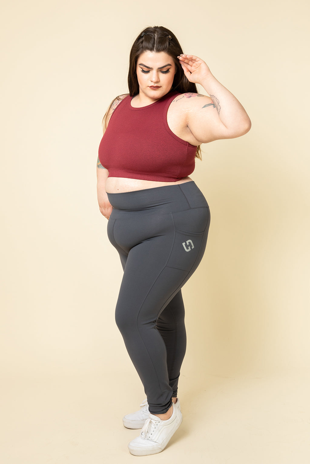 SUPERHOLD Pocket Leggings - Metal (XS - M)