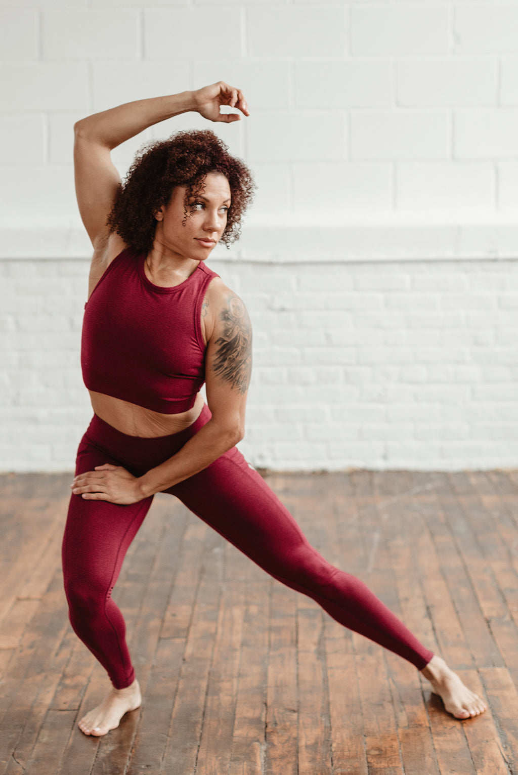 Superfit Pocket Leggings - Red Wine