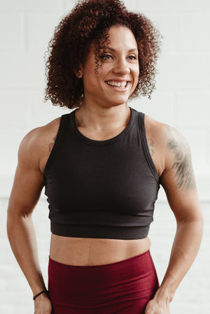 Sport Crop Bra - Dark Night