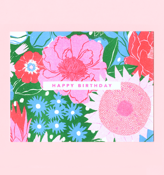 BLOOMING BIRTHDAY | SINGLE CARD + ENVELOPE