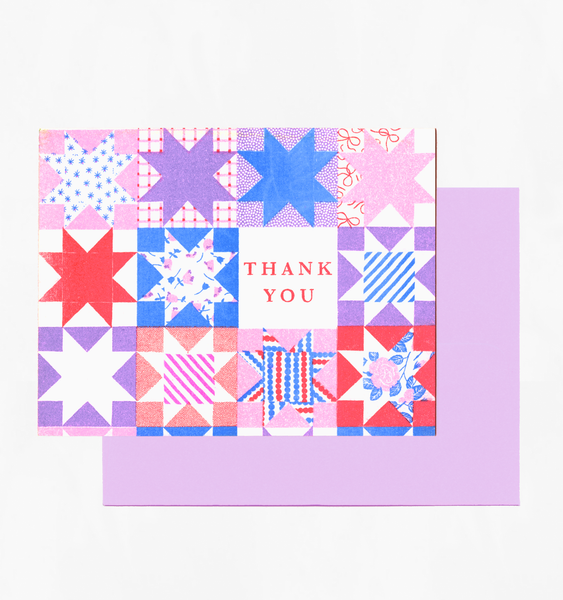 QUILTED THANKS | SINGLE CARD + ENVELOPE