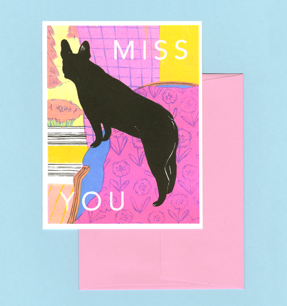MISS YOU CARD | SINGLE CARD + ENVELOPE
