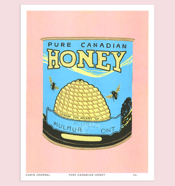 PURE CANADIAN HONEY ART PRINT