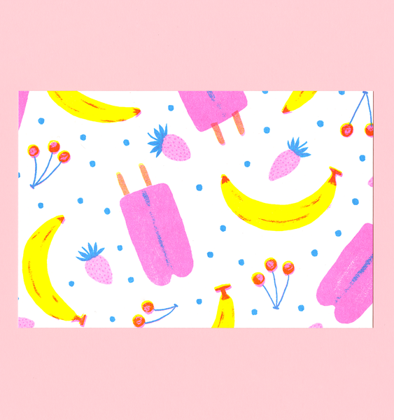 ICE LOLLIES | SINGLE POSTCARD