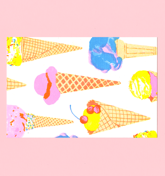 ICE CREAM CONES | SINGLE POSTCARD