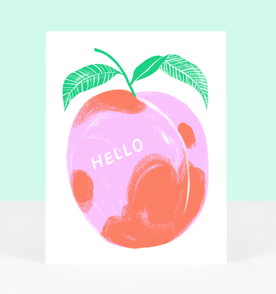 PEACH GREETING | SINGLE CARD + ENVELOPE