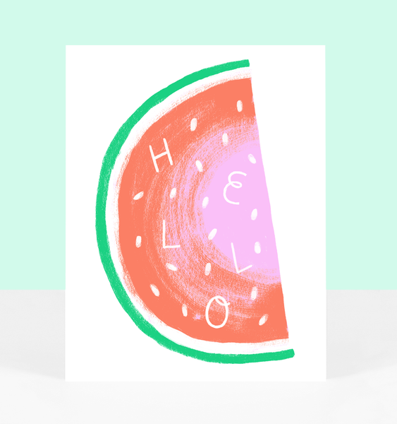 WATERMELON GREETING | SINGLE CARD + ENVELOPE