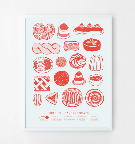 BAKERY TREATS POSTER | WHITE