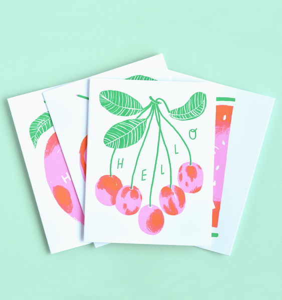 FRUIT CARDS | 4 CARDS + ENVELOPES