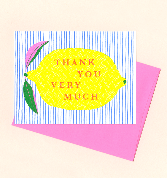 THANK YOU LEMON | SINGLE CARD + ENVELOPE
