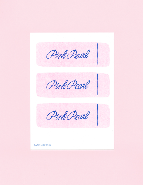 NEW! PINK PEARL ERASER | MINI PRINT