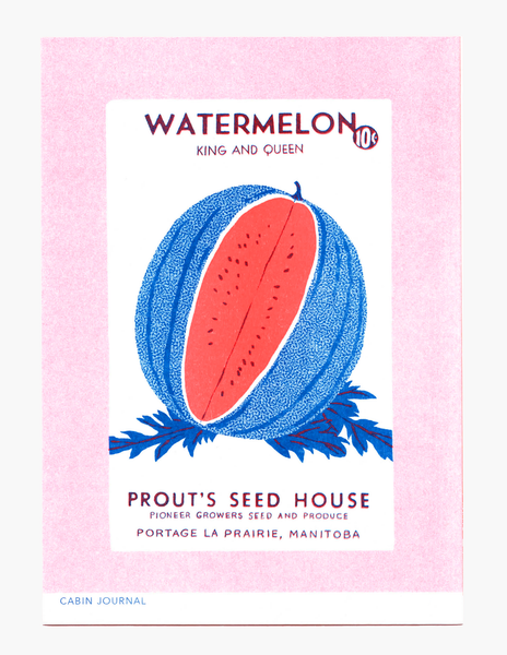 VINTAGE WATERMELON SEEDS | MINI PRINT