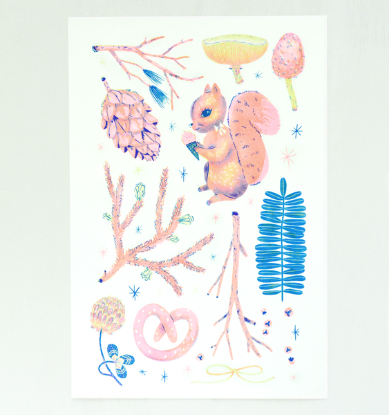 FOREST FANTASTIC ART PRINT