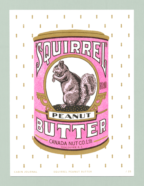 SQUIRREL PEANUT BUTTER ART PRINT