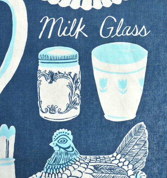 MILK GLASS TEA TOWEL