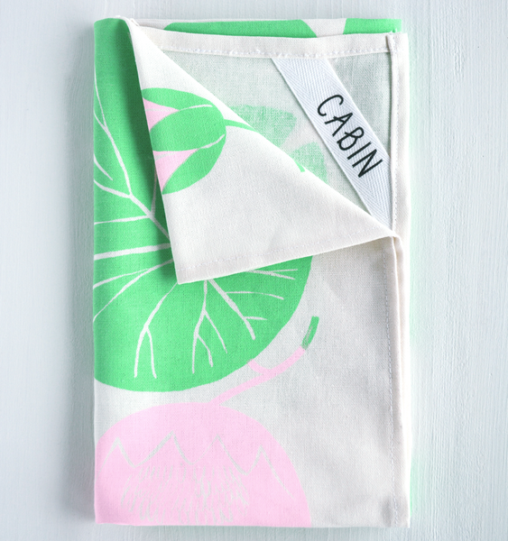 WATERLILIES TEA TOWEL