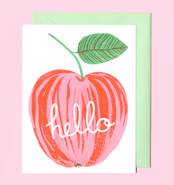 APPLE GREETING | SINGLE CARD + ENVELOPE