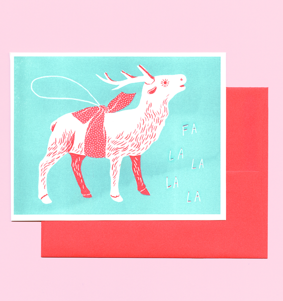 REINDEER CARD | SINGLE CARD + ENVELOPE