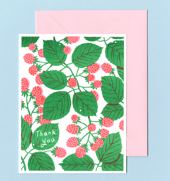 RASPBERRY THANK YOU | SINGLE CARD + ENVELOPE