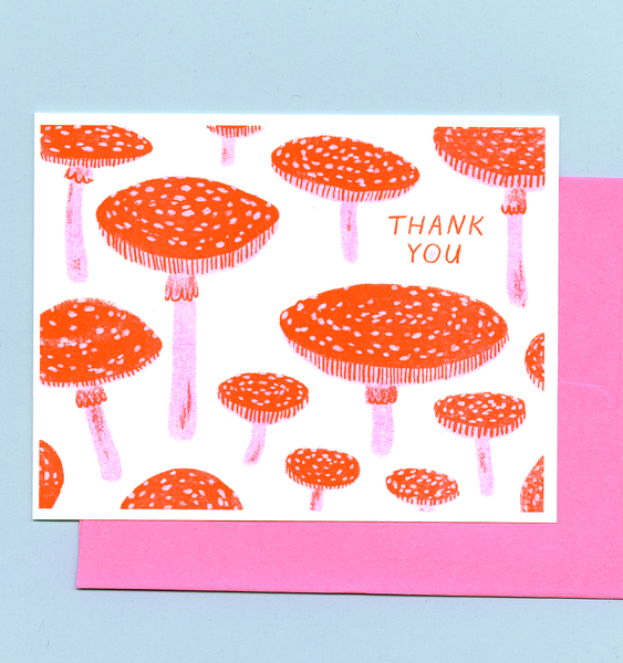 TOADSTOOL THANK YOU | SINGLE CARD + ENVELOPE