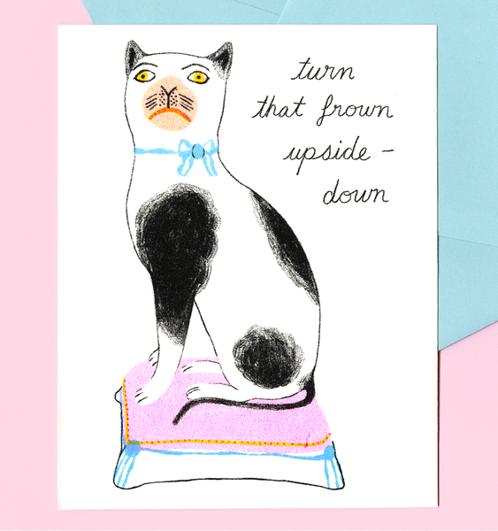 FROWNING CAT CARD | SINGLE CARD + ENVELOPE