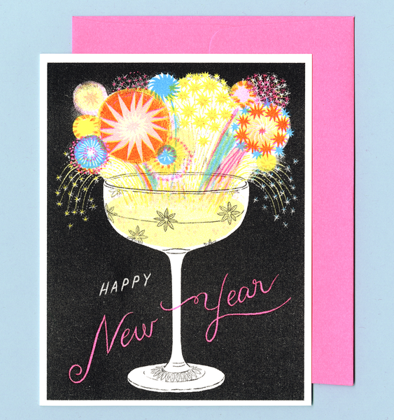 CHAMPAGNE NEW YEARS | SINGLE CARD + ENVELOPE