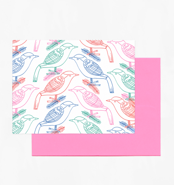 BIRD ORNAMENT CARD | SINGLE CARD + ENVELOPE