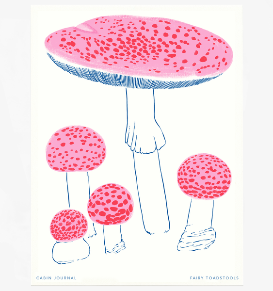 CANDY FAIRY TOADSTOOL ART PRINT